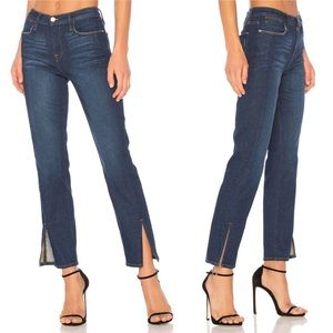 Frame Denim Le High Straight Tuxedo Split Hem Jean